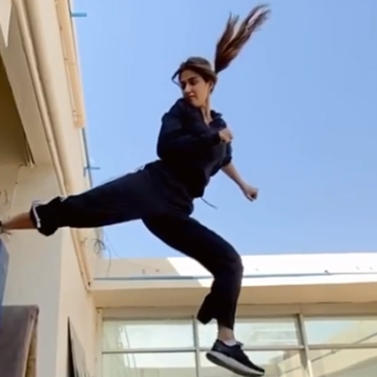 Watch: Action diva Disha Patani nails the extremely difficult flying kick in latest video