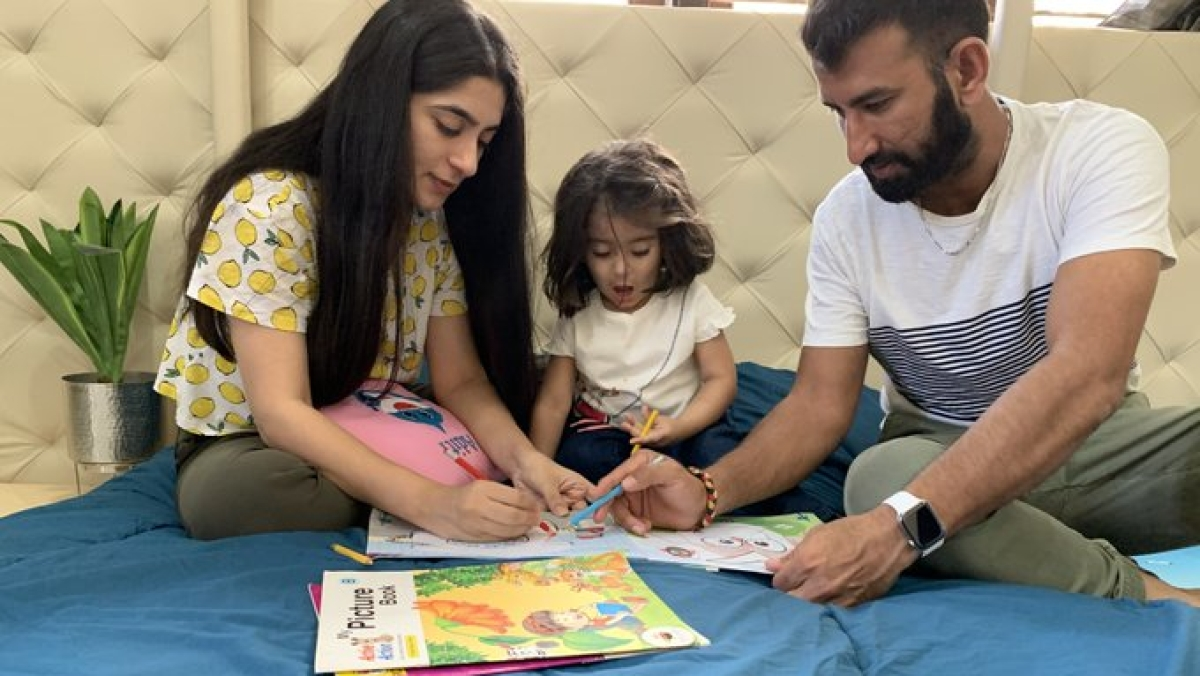 From household chores to spending time with little one, here's what Cheteshwar Pujara's quarantine routine looks like