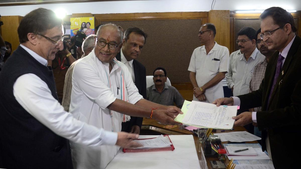 Madhya Pradesh: Digvijaya Singh files Rajya Sabha papers before declaration of his name