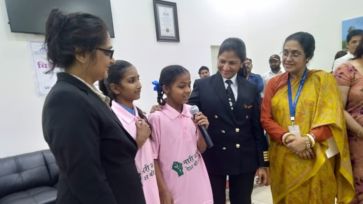 Indore: Women achievers motivate girl students at city airport