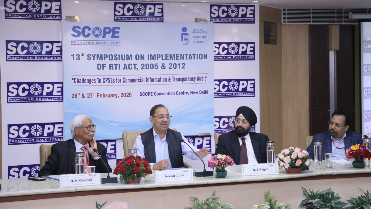 SCOPE organises Symposium on RTI Act