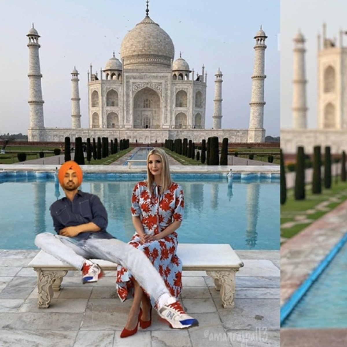 Diljit Dosanjh shares photoshopped pic with Donald Trump's daughter Ivanka, her reply wins hearts