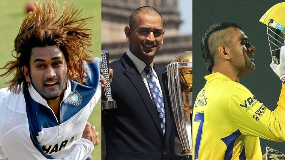 Streaks, mohawks and moustache - A look at MS Dhoni's best hairstyles