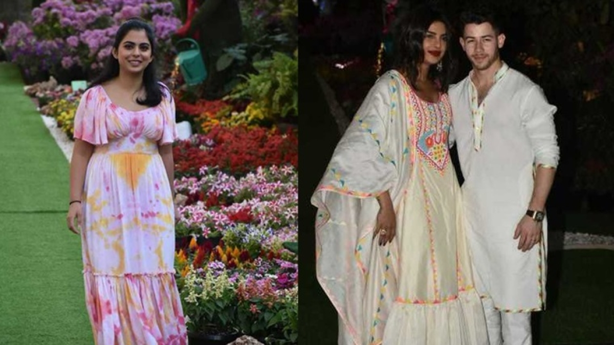 In Pics: Priyanka-Nick, Jacqueline, Diana and other celebs attend Isha Ambani's early 'Holi Bash'