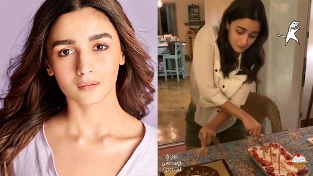 Watch video: Alia Bhatt celebrates her 27th birthday by cutting cakes in a unique style