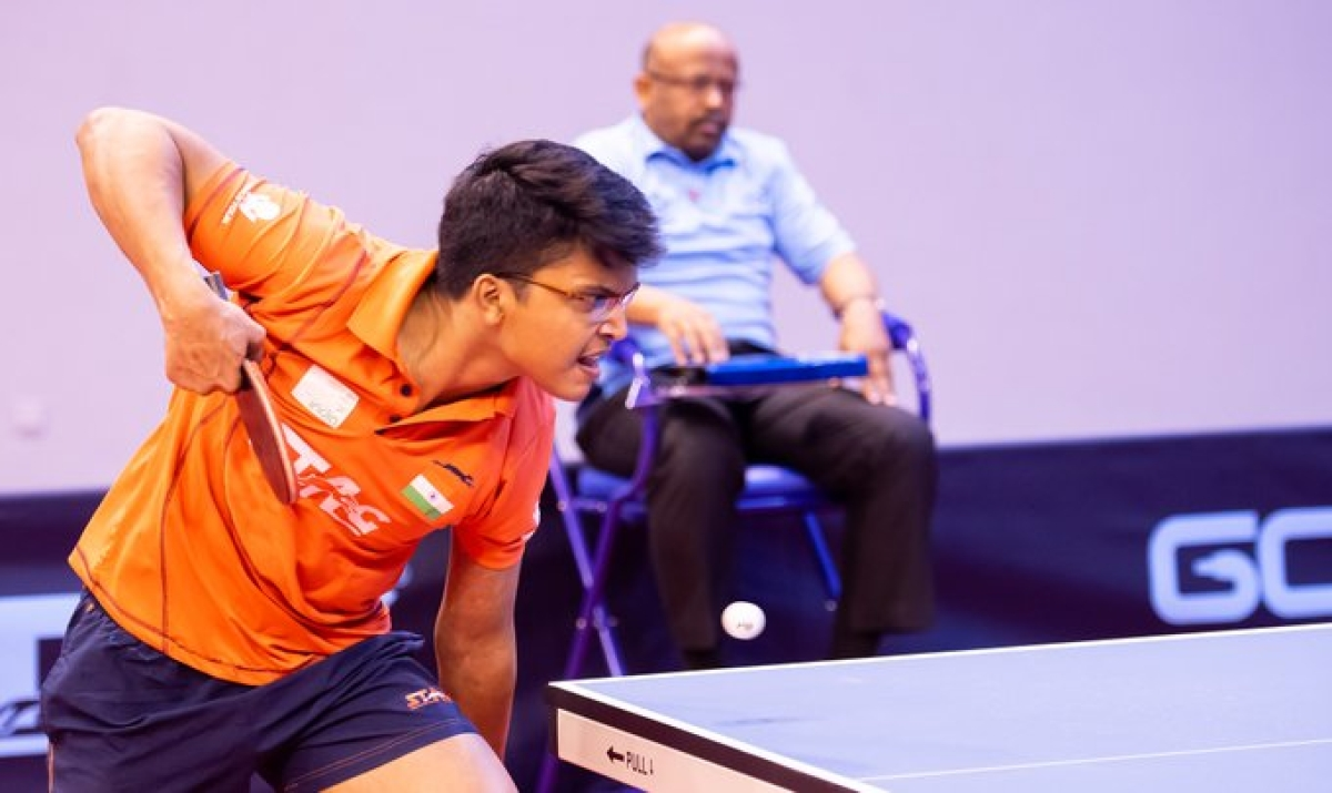 Jeet Chandra stunned World No. 2 Manav Thakkar to clinch U-21 men's singles title.