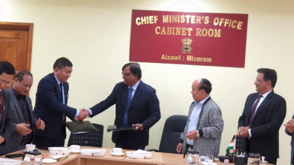 PFC inks MoA for 100-bed hospital in Mizoram amid the presence of CM Zoramthanga
