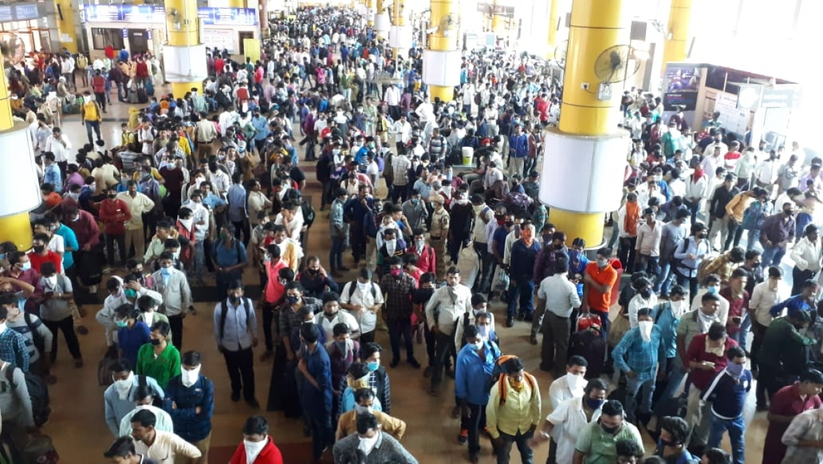 In pics: One thermal scanner at Kurla Terminus to manage thousands of migrant workers leaving Mumbai amid coronavirus outbreak