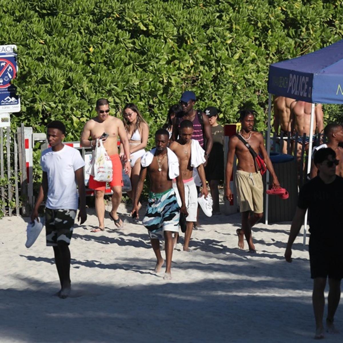 America's Stupidity Epidemic: Spring-breakers defy coronavirus lockdown at Maimi beach