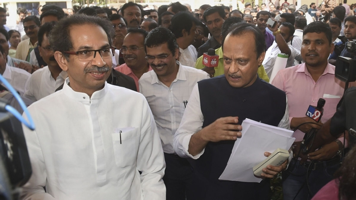 Maharashtra Chief Minister Uddhav Thackeray and Deputy CM Ajit Pawar