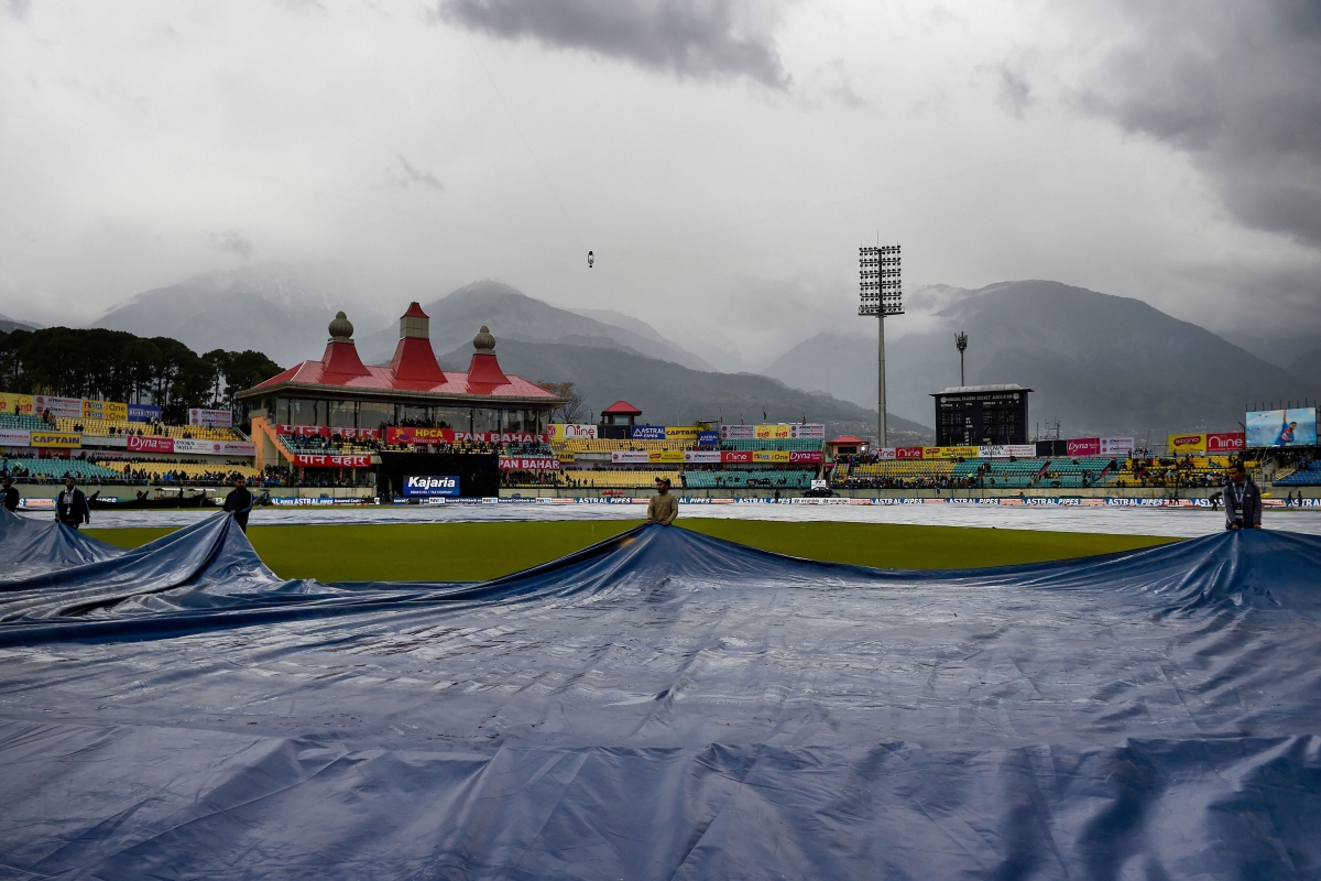 It was the second match in less than six months to be abandoned at the picturesque Himachal Pradesh Cricket Association (HPCA) Stadium because of inclement weather.