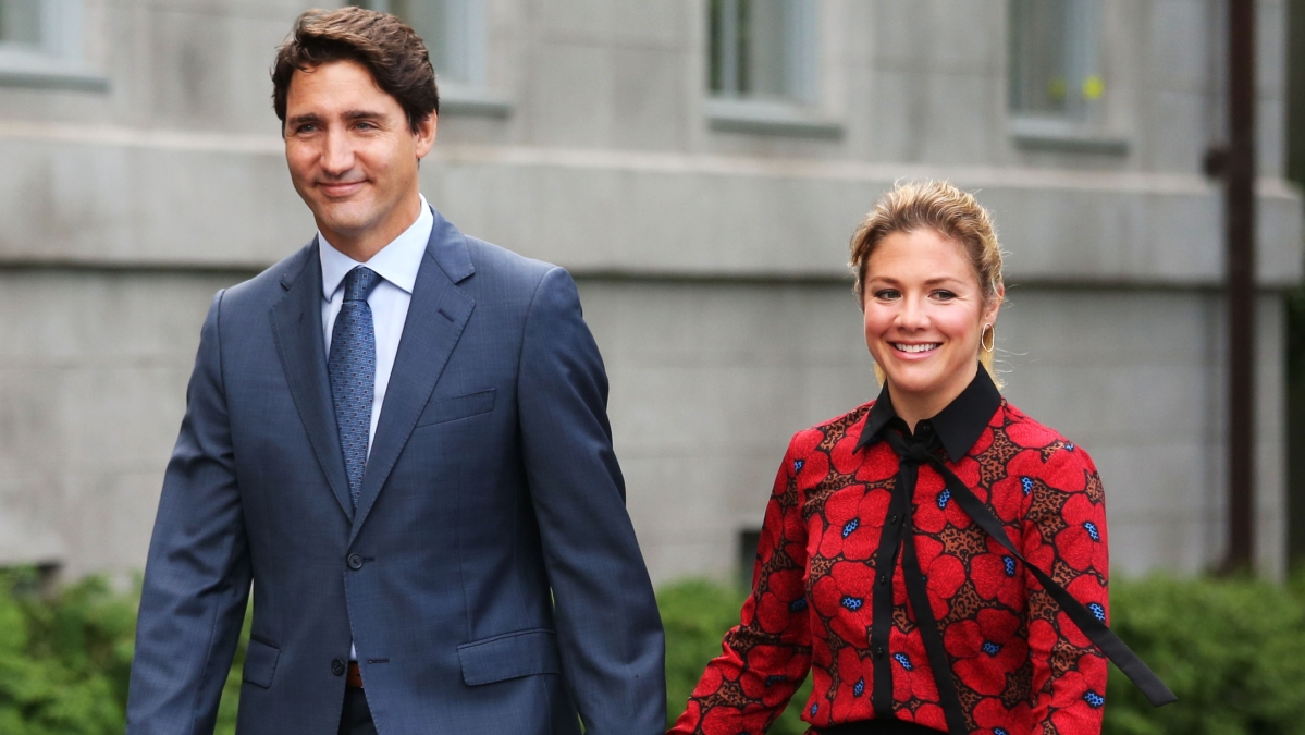 Canada's Prime Minister Justin Trudeau and his wife Sophie Gregorie Trudeau