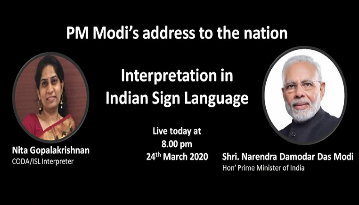 How people using Indian Sign Language can follow PM Modi's coronavirus address live