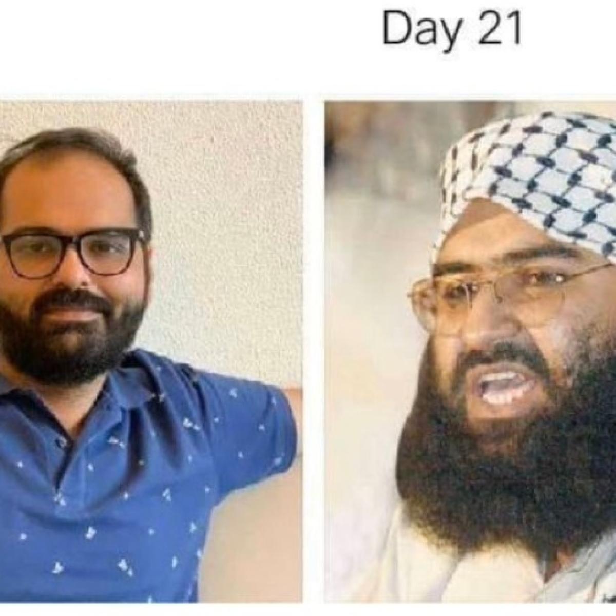 Kunal Kamra reacts to lockdown meme comparing him  to terrorist Masood Azhar