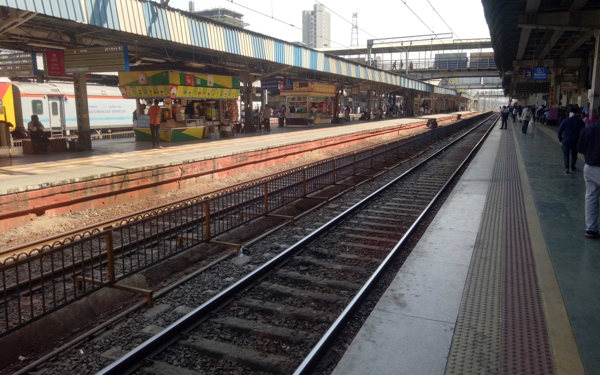 Borivali station observes peace as there is absence of crowd due to coronavirus pandemic.