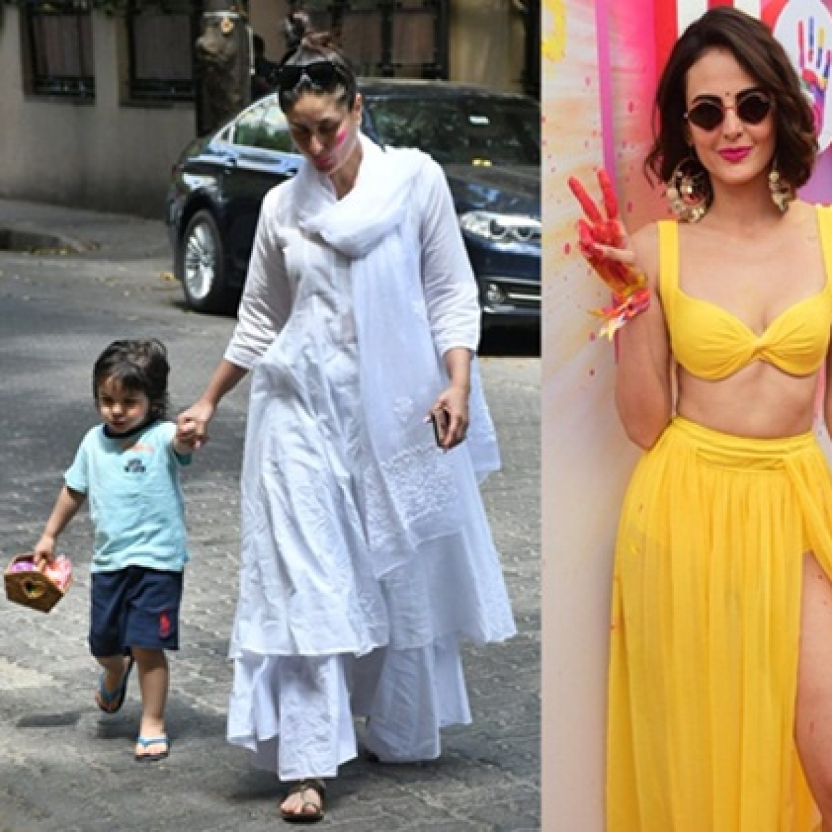 Photos: Kareena, Taimur, Jacqueline and other celebs step out for Holi 2020 celebrations
