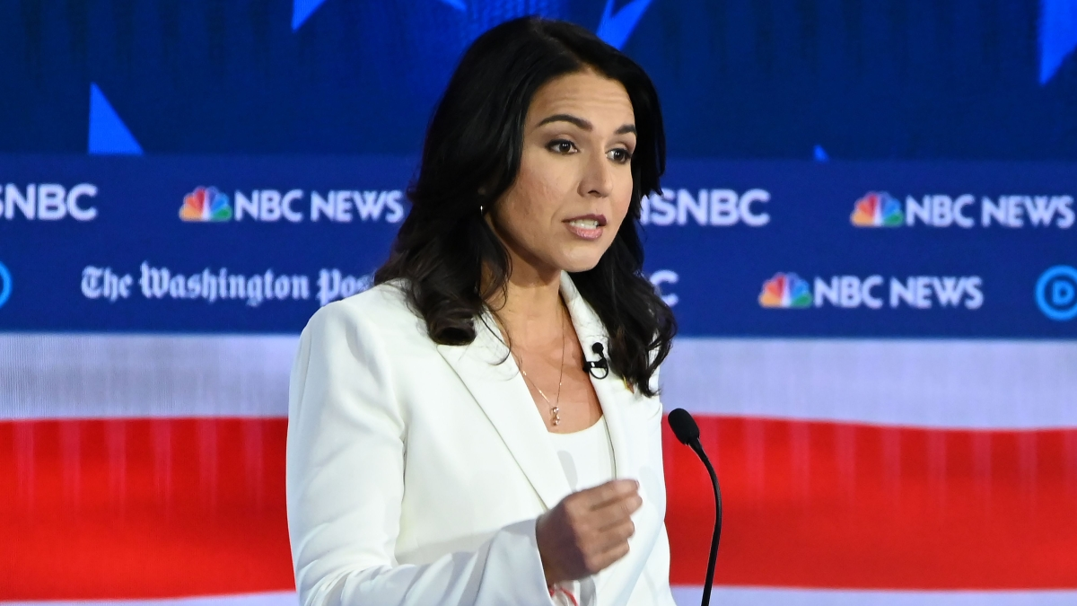 Tulsi Gabbard officially ended  her campaign for the Democratic presidential nomination on March 19, 2020, offering her support to former Vice President Joe Biden.