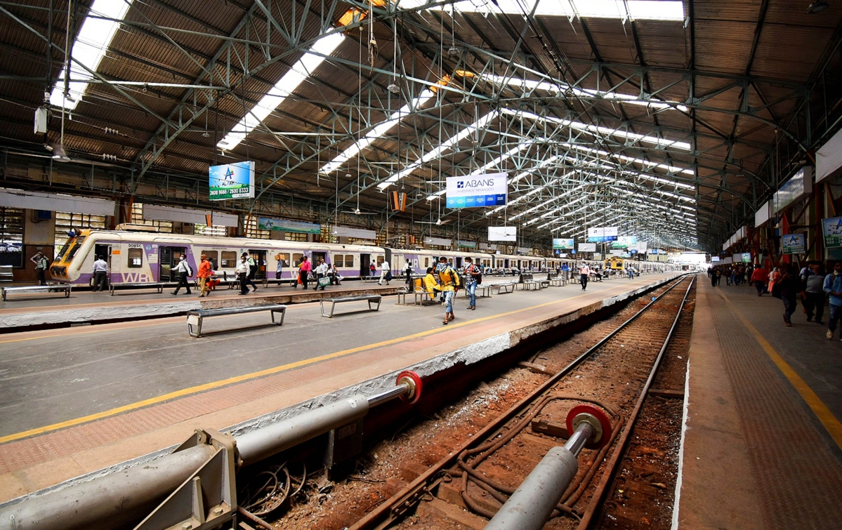 Churchgate Railway Station observes less crowd.