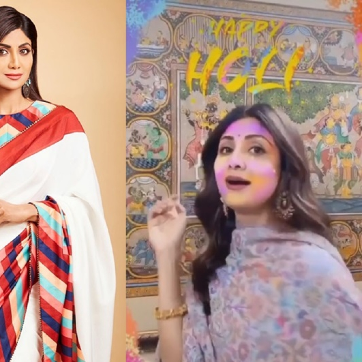 Holi 2020: Shilpa Shetty grooves to 'Rang Barse' in her latest video