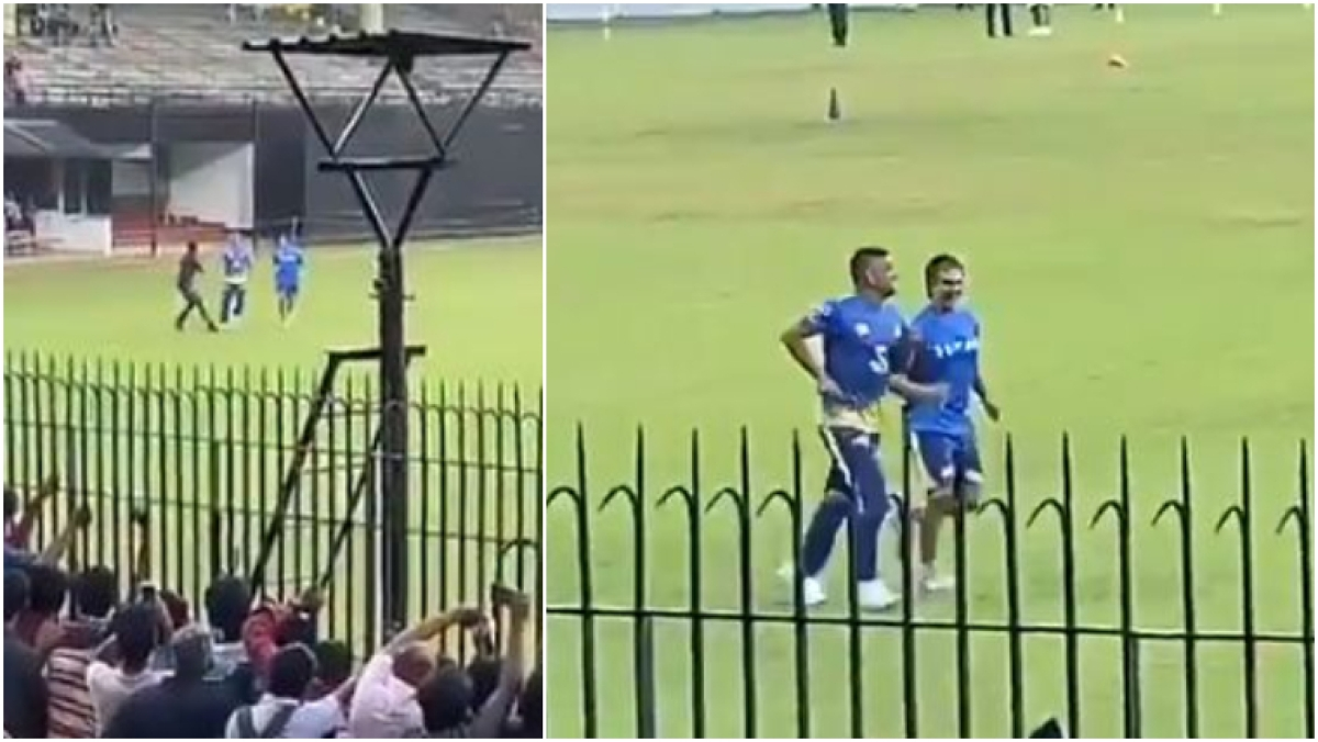 Ahead of IPL 2020, watch MS Dhoni's reaction after fan rushes into stadium to shake CSK skipper's hand