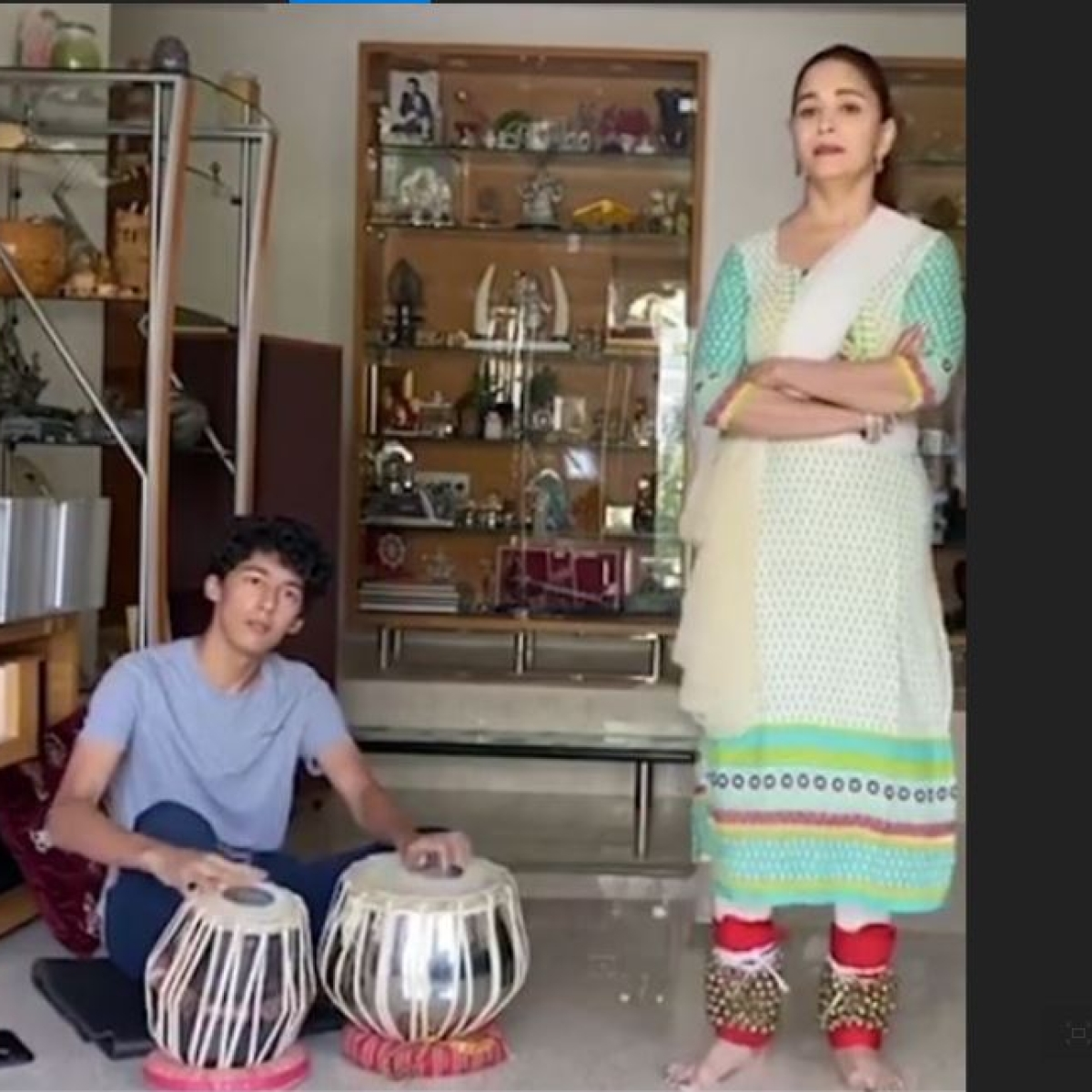 Madhuri Dixit teaches son Arin how to shake a leg; watch video