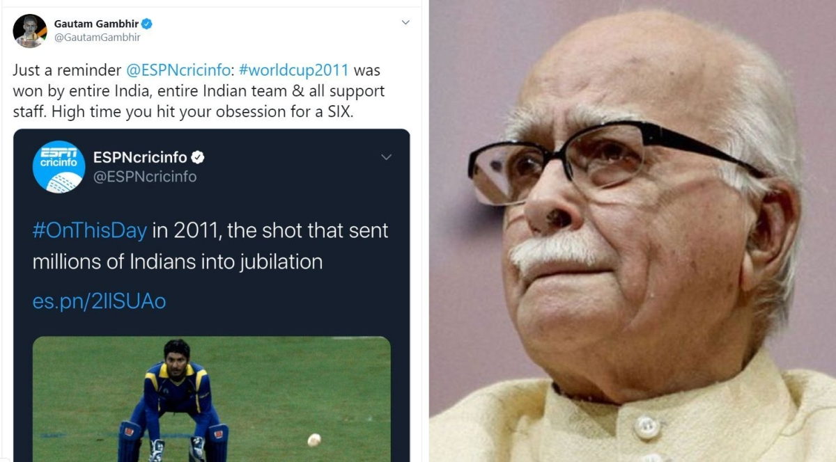 'Relax kijiye cricket ke Advaniji': Gautam Gambhir ridiculed for slamming ESPN CricInfo for celebrating MS Dhoni's World-Cup winning six