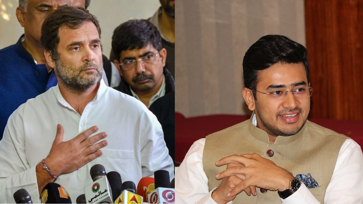 'Seriously Bangalore, he's your representative?': Twitter slams Tejasvi Surya after his 'foreign takeover of Congress' dig at Rahul Gandhi