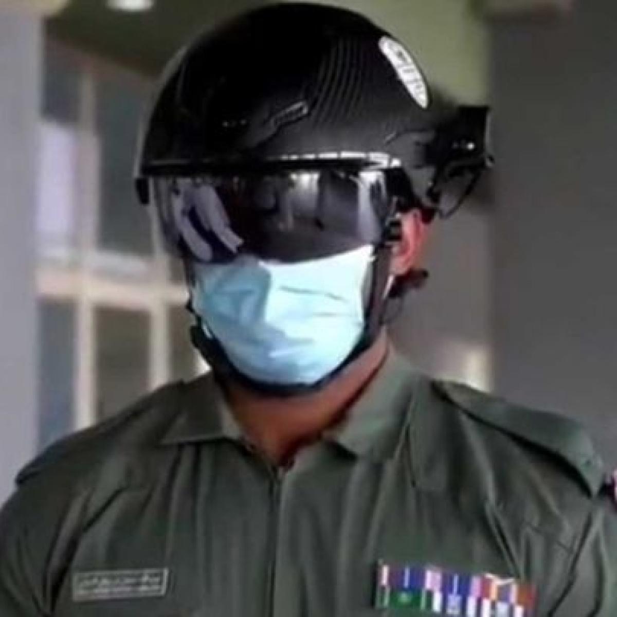 UAE uses smart helmets to detect high body temperature amid coronavirus pandemic