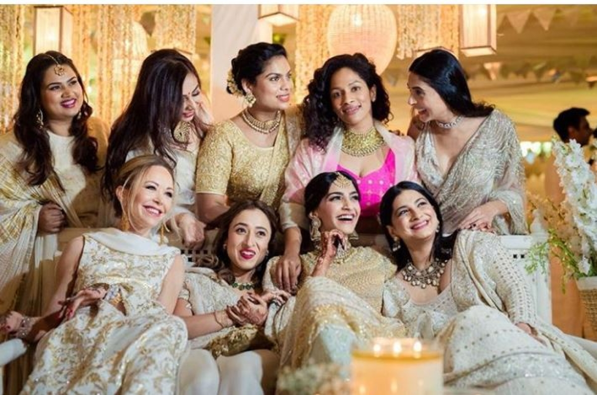 Sonam Kapoor shared an old picture on Friday from her wedding function.