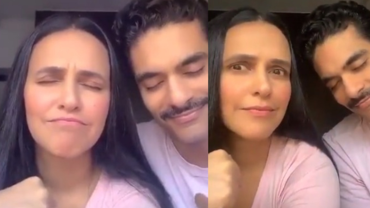Neha Dhupia takes 'who's most likely challenge' with Angad Bedi, once again gets trolled for 'it's her choice' comment