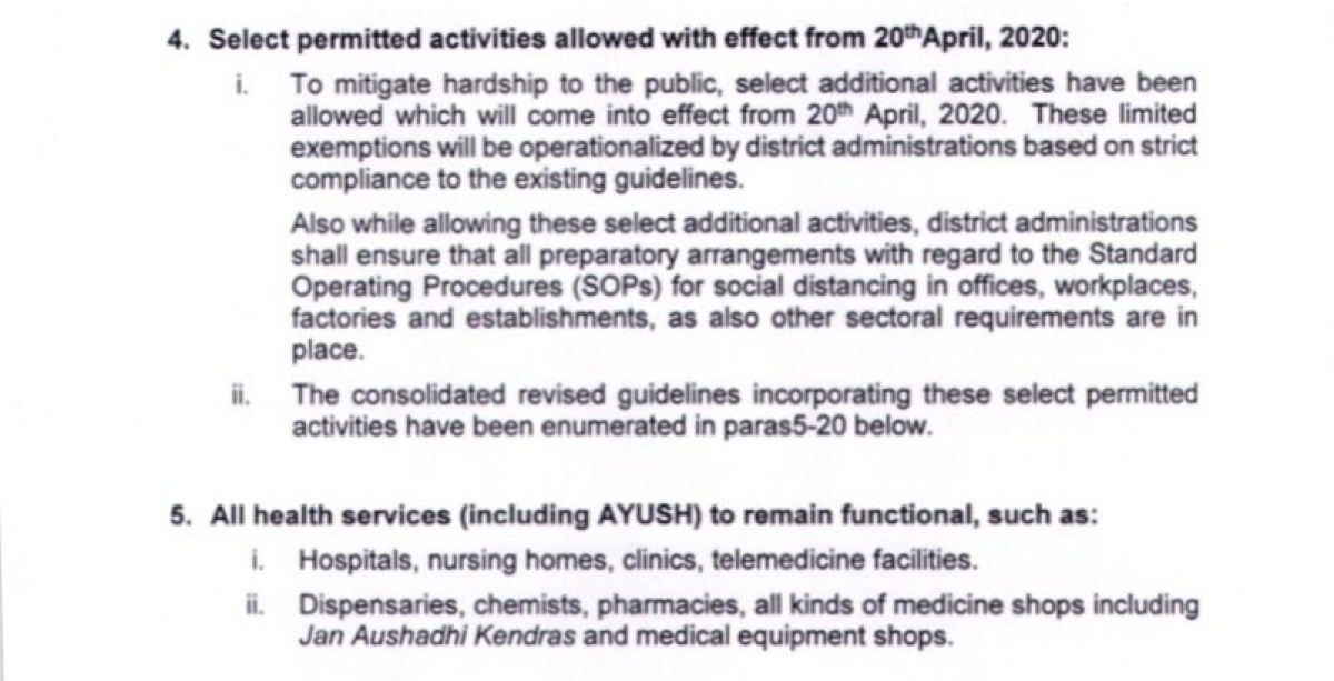 Maharashtra government issues additional list of activities which will be permitted after April 20