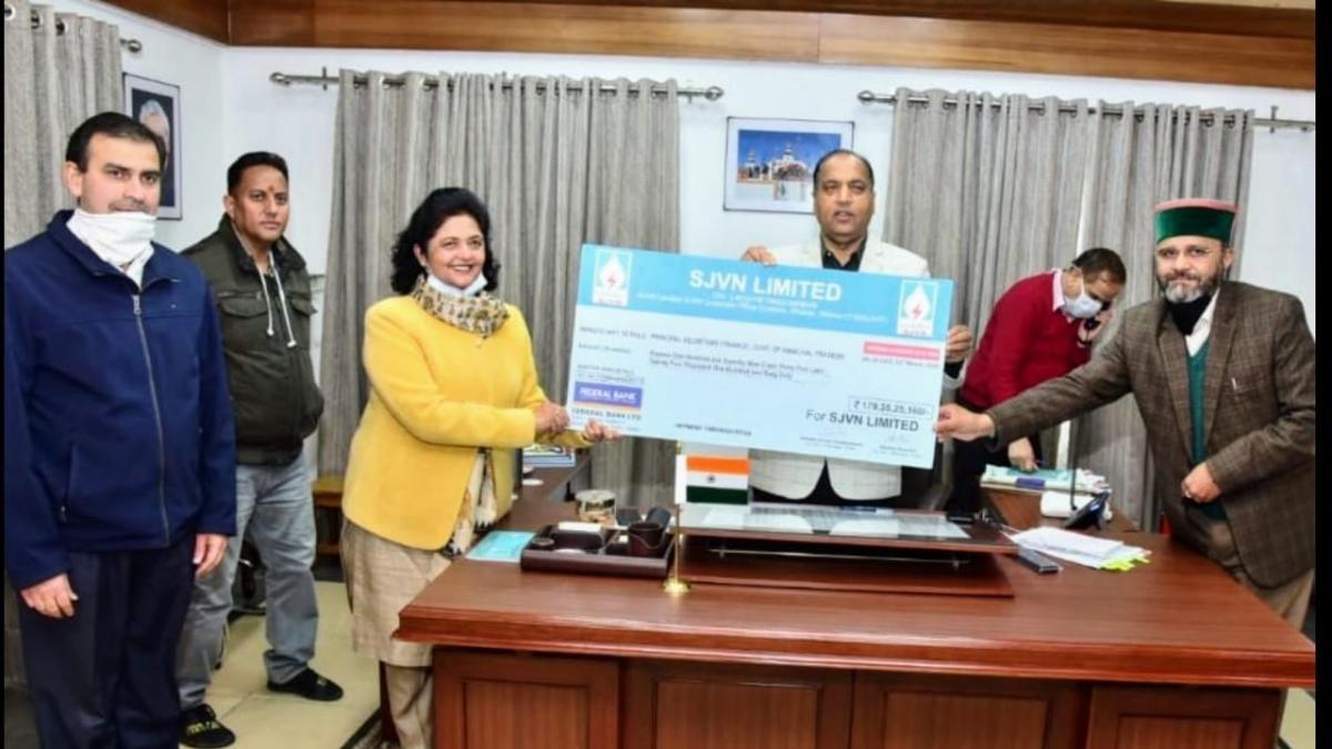 SJVN pays Rs. 179.35 crore as Interim Dividend to Himachal Pradesh govt