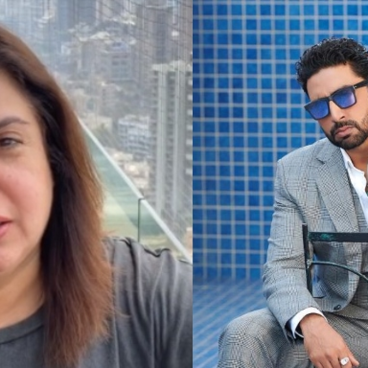 Abhishek Bachchan teases Farah Khan by asking her to upload workout video