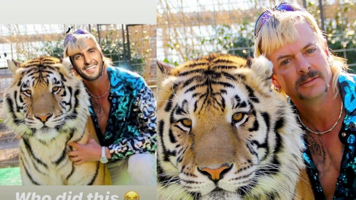 Ranveer Singh shares a picture of himself as Netflix's 'Tiger King' star Joe Exotic