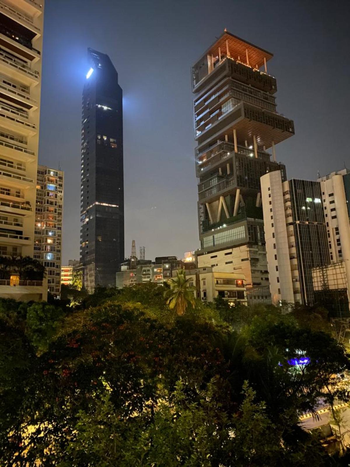 A view from Ammbani's hiuse in Mumbai.