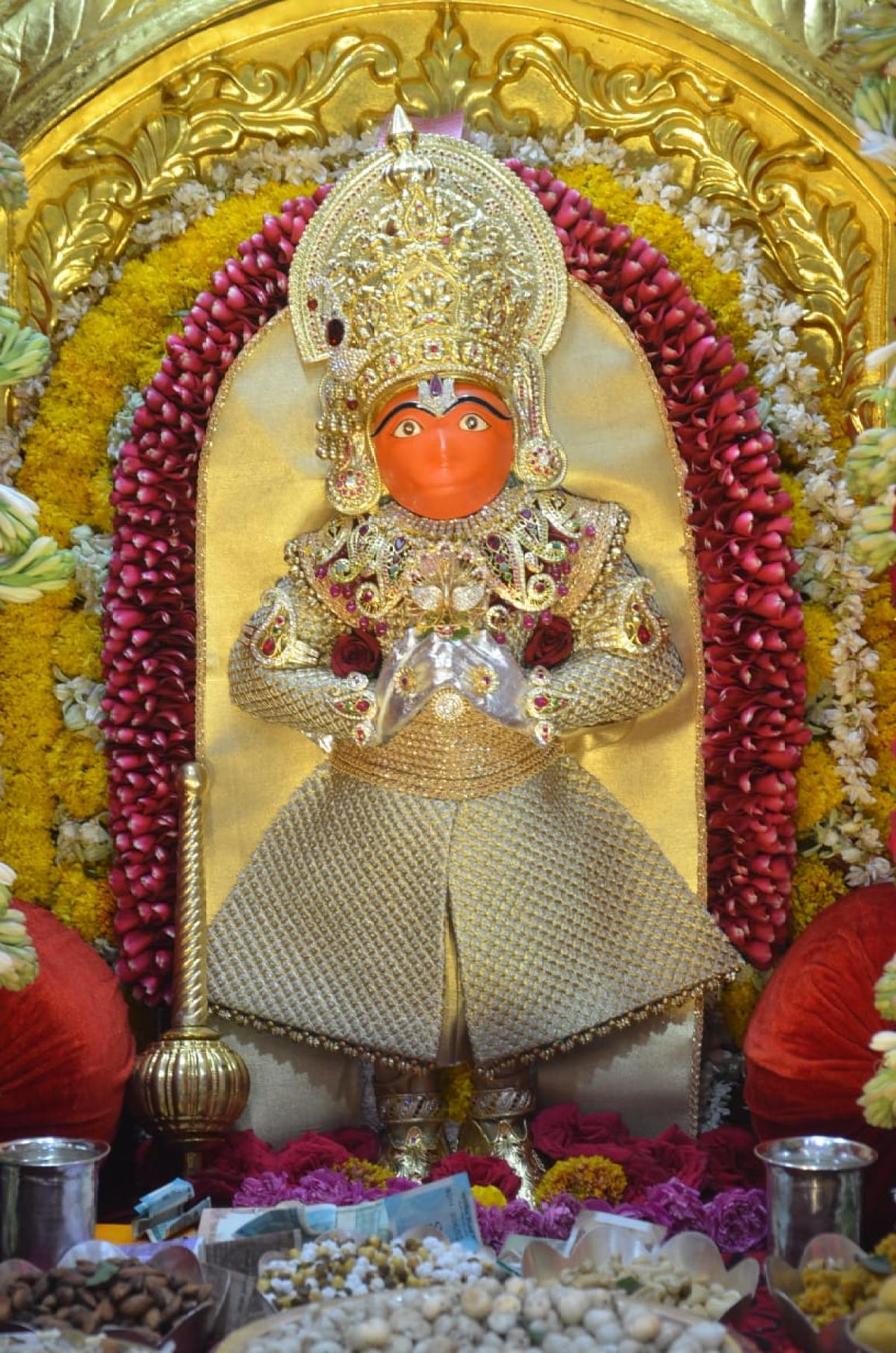Lord Hanuman temple at Subhas Chowk.