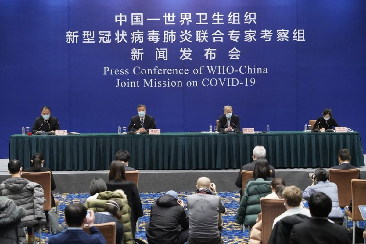 A press conference of the China-WHO joint expert team is held in Beijing.