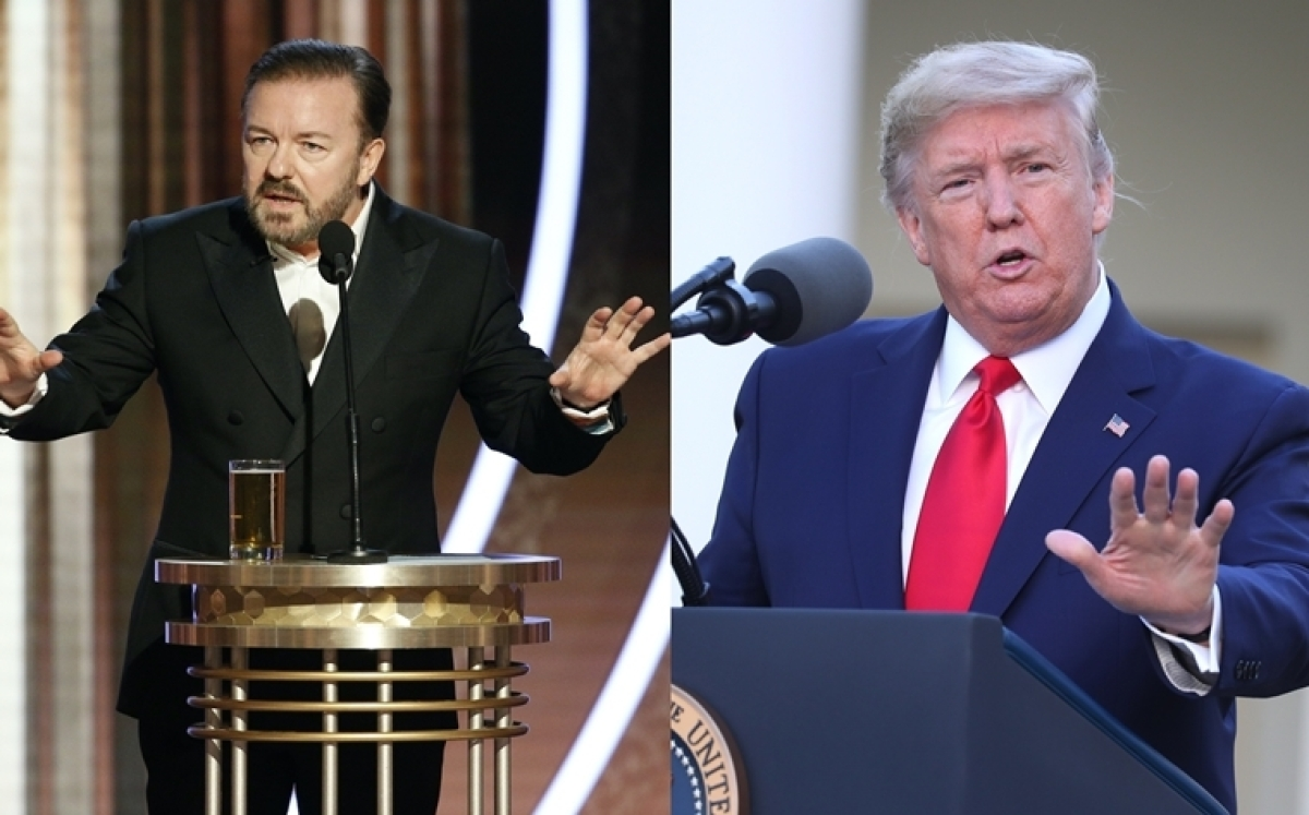Ricky Gervais and Donald Trump