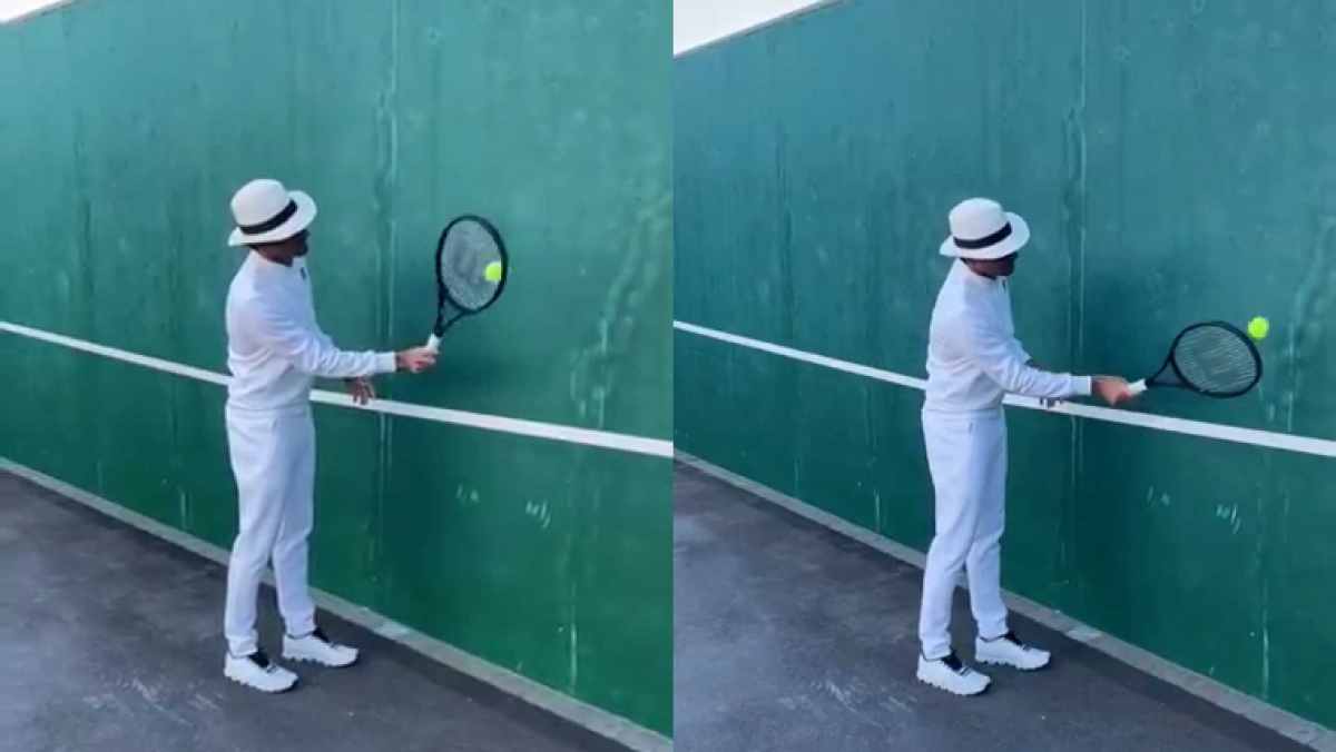 Watch: Roger Federer partakes in solo tennis drill, further nominates Virat Kohli, Cristiano Ronaldo, The Rock and others