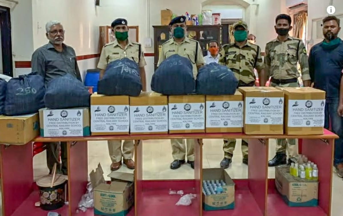 Central Rly prepares 1.28 lakh masks and more than 7000 litres hand sanitizer