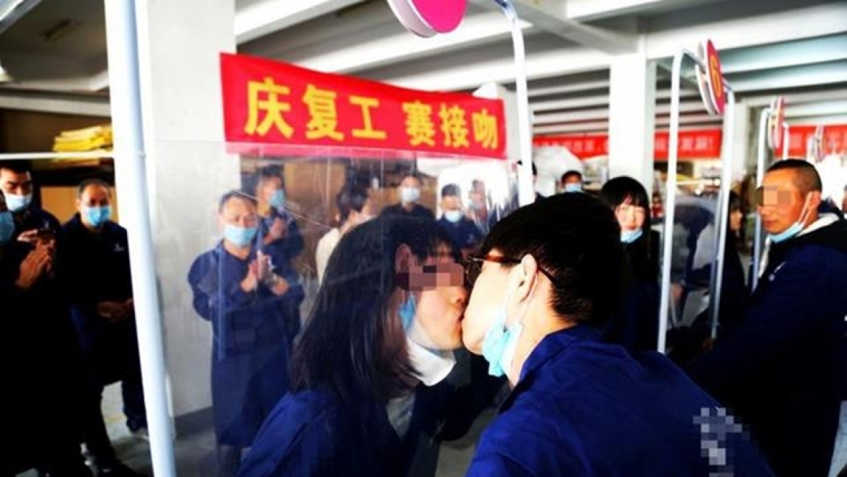 Chinese factory slammed for hosting 'kissing competition' post lockdown