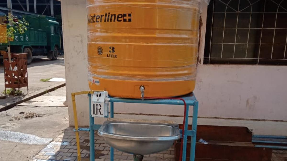 SWR develops innovative arrangement of handwash