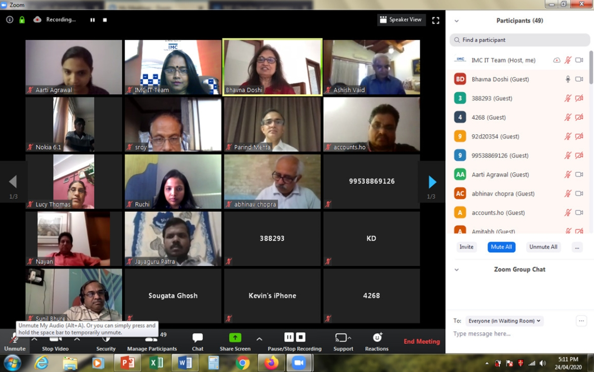 IMC conducts VC on the impact of COVID 19 on GST