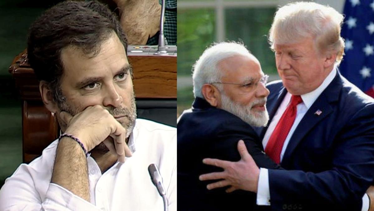 Rahul Gandhi and PM Modi and Donald Trump (File Photo / AFP)