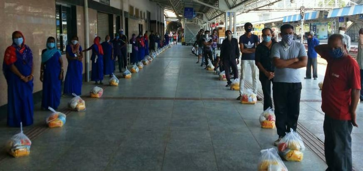Grocery Kits & Homeopathic Medicines included in Mission Distribution over Western Railway