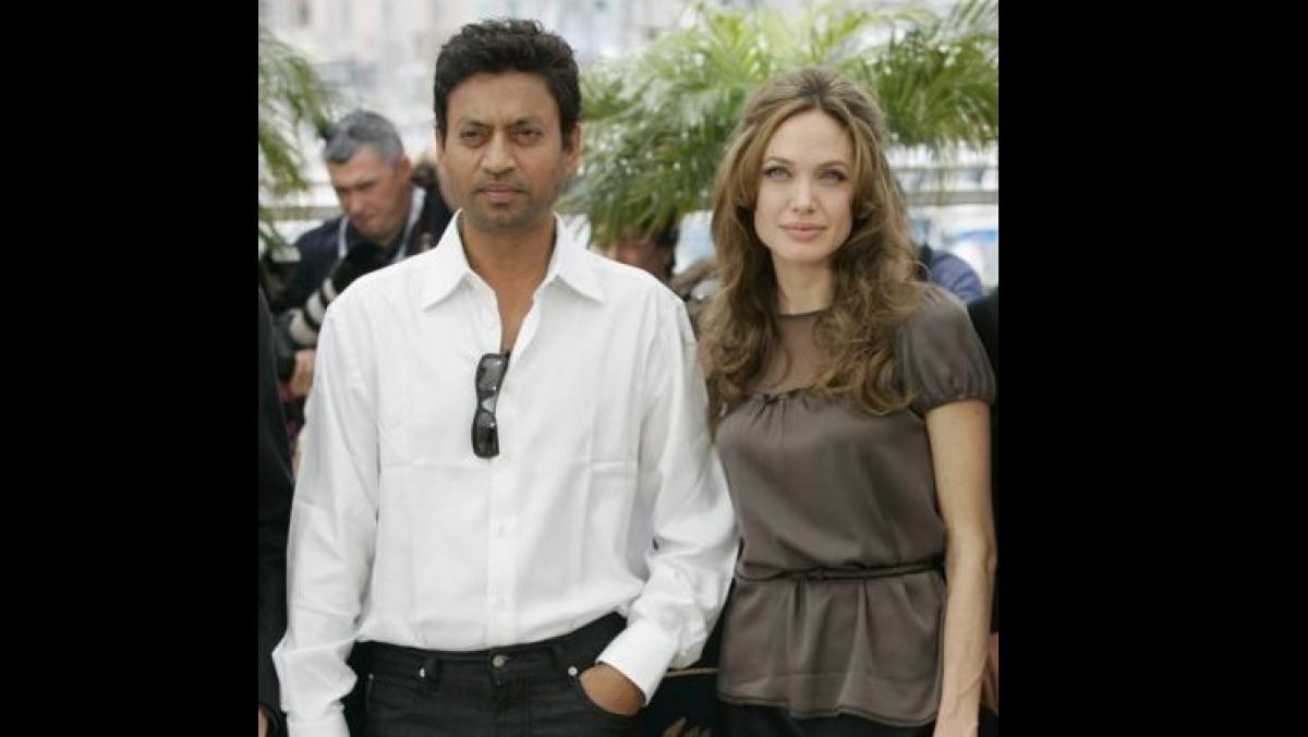 Irrfan Khan and Angelina Jolie