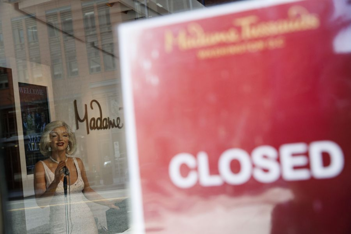 Madame Tussauds wax museum is closed amid the COVID-19 pandemic in Washington D.C., the United States, on April 16, 2020.