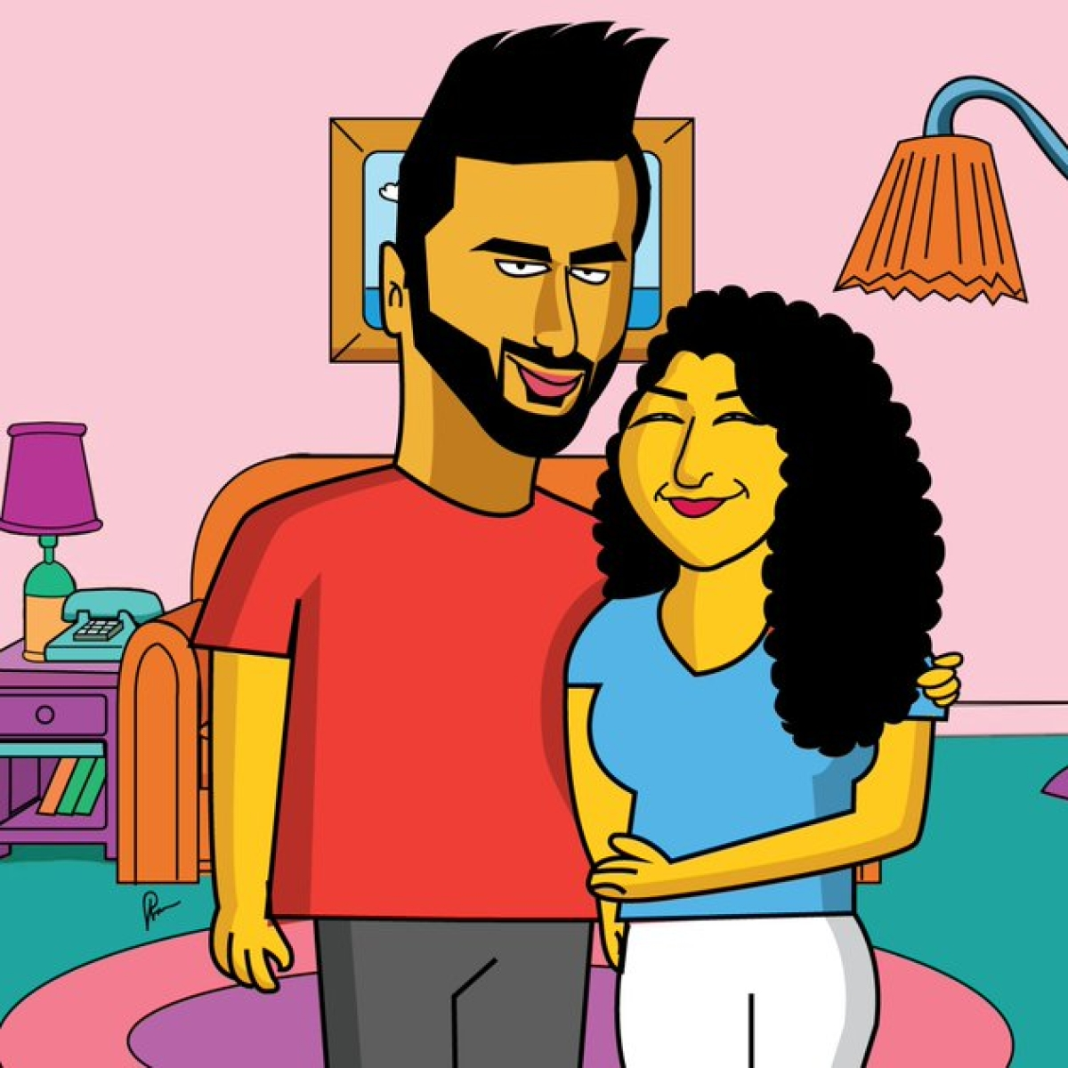 Arjun Kapoor and his sister Anshula turn into 'The Simpsons'