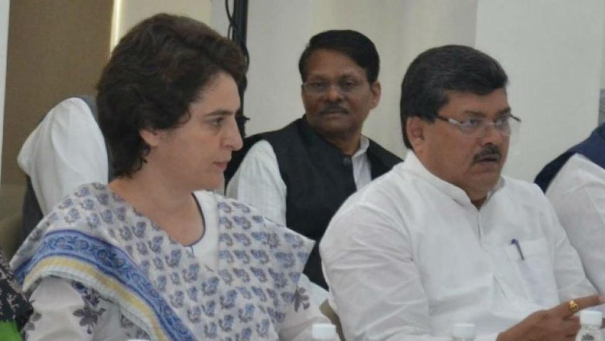 Mukul wasnik with Priyanka Gandhi