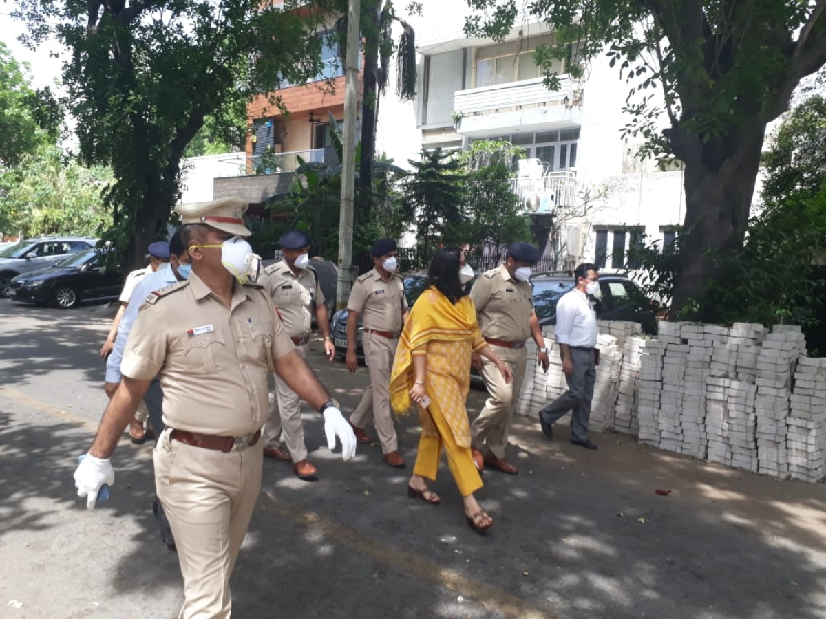 "Delhi Police personnel on Thursday made the announcement in the Bengali Market here that the area has been sealed and ""strict legal action will be taken against violators."""